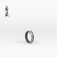小叶紫檀镶银戒指|壹贰艺术工坊 独立设计师手工打造