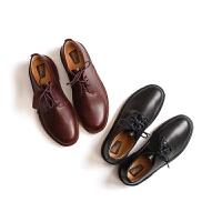 Clarks/其乐男鞋正品其乐Desert London系列亮皮软底休闲系带男鞋26118571