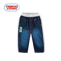 托马斯童装正版授权夏季新款男童轻薄牛仔裤拼接裤子短裤