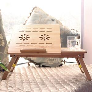 御目 书桌 床上可折叠懒人桌大学生宿舍简约实木桌子小学习桌可调节笔记本电脑桌书房创意家具