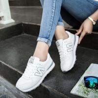 新百伦阿迪  2017春夏季新款韩版白色N字鞋女鞋学生休闲运动鞋女厚底潮鞋