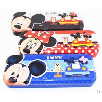 联众 迪士尼 儿童 文具盒男女学生卡通双层卡通铅笔盒铁GD18015-1
