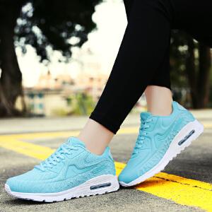 奇安达2017春夏新款女士轻便减震运动休闲学生气垫慢跑鞋