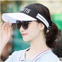 韩版 户外帽子女休闲运动网球帽防晒帽遮阳帽棒球帽空顶帽男
