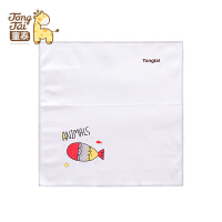 童泰新款婴儿纯棉男女宝宝口水巾新生儿卡通图案四块装手帕擦嘴巾