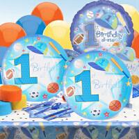 孩派 生日派对 聚会用品 儿童生日派对用品 一岁全明星主题系列