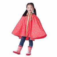 时尚儿童雨衣大帽沿 雨披宝宝小孩 户外防雨带书包位男女童款