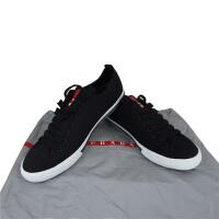 Prada 男士黑色系带帆布鞋 4 E2 927