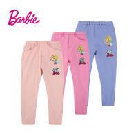 【满200减100】Barbie芭比女童装秋装休闲长裤中大童优质棉糖果色外穿长裤