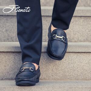 宾度男鞋新品男士商务休闲皮鞋爸爸鞋减震防滑平底鞋