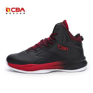 CBA正品男子篮球鞋 2017新款中帮男款耐磨大底防滑室外战靴主训练鞋