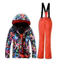 冬季户外儿童 防风防水透气 男童 滑雪服套装