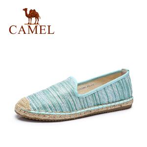 Camel/骆驼 春夏季新款帆布鞋 舒适懒人平底单鞋百搭休闲鞋