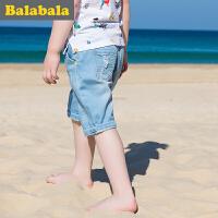巴拉巴拉儿童短裤男小童男孩童裤2017夏季新款男童裤子 宝宝休闲裤