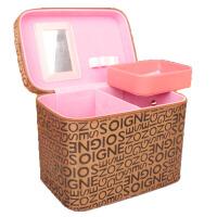 旅行 大号化妆箱 大容量化妆包手提包 字母时尚女包