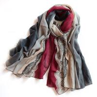 围巾女冬季棉麻长款丝巾女士百搭披肩围脖