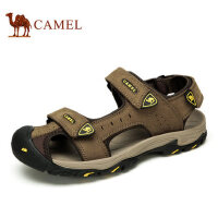 camel骆驼凉鞋 男真皮夏季新款 男鞋包头牛皮户外休闲运动沙滩鞋男