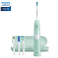 飞利浦电动牙刷HX6213/HX6263成人充电声波震动软毛牙刷洁白牙齿
