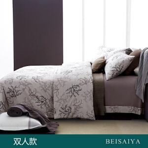 贝赛亚 高端60支贡缎长绒棉床品 双人印花床上用品四件套 克莱顿