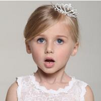 韩版时尚大号水钻发卡 圣诞公主发梳儿童皇冠头饰