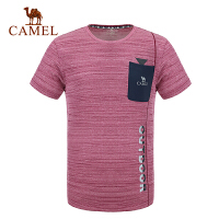 camel骆驼户外男款功能圆领T恤 耐磨速干快干透气短袖T男