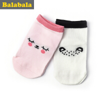 巴拉巴拉童装女童袜子婴童童袜2017夏季新款袜儿童棉袜女2双装