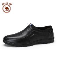 骆驼牌 新品休闲皮鞋 日常舒适头层细摔牛皮套脚耐磨男士鞋子