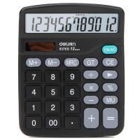 得力 837es 财务办公计算器 7号电池 大屏幕 双电源