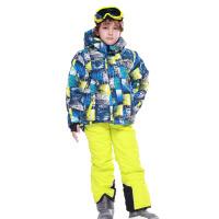 冬季户外 儿童滑雪服套装 男童冲锋衣裤