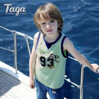 【儿童节特惠】taga童装男童纯棉背心儿童圆领坎肩背心中大童夏装2017新款上衣
