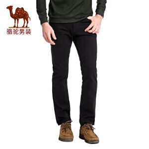 骆驼&熊猫联名系列男装 秋季时尚青年中腰纯棉商务休闲裤