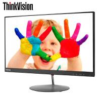 联想显示器ThinkVision X23液晶显示器 23英寸纤薄窄边IPS硬屏广视角 全高清金属支架显示器,简约大气