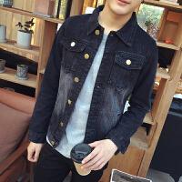 春季款新款时尚休闲男牛仔外套韩版修身潮大码夹克外套