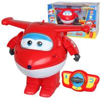 奥迪双钻超级飞侠遥控变形乐迪机器人会跳舞小爱变形儿童飞机玩具 遥控变形乐迪