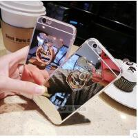 【支持礼品卡】镜面小熊iphone6s手机壳支架手环苹果6Splus软胶套指环壳se/5s壳