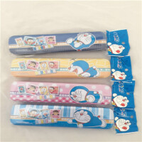 哆啦A梦DE 5022笔盒双层铁质儿童学生收纳文具盒