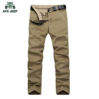 AFS JEEP战地吉普男士休闲裤秋装新款修身男装纯棉小直筒商务长裤