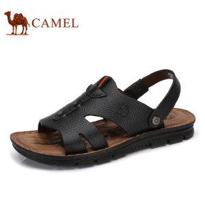 camel骆驼男鞋 2017夏季新品凉鞋男沙滩鞋 休闲鞋皮凉鞋男