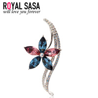 皇家莎莎RoyalSaSa时尚人造水晶花朵胸针胸花 别针 配饰品饰品5SP055