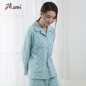 顶瓜瓜睡衣女纯棉春季新款中厚长袖睡衣女士卡通印花家居服套装