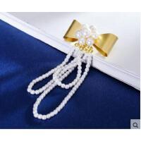 日韩国时尚甜美气质百搭服饰配件天然珍珠胸针胸花时尚女 别针