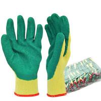 12双 防水防油涂层纱手套耐磨防滑吸汗维修工作作业劳保防护手套