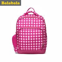 巴拉巴拉女童双肩包中童时尚书包2017春季新款儿童学生书包休闲潮