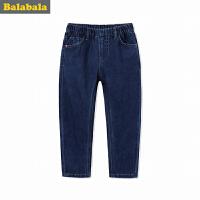 巴拉巴拉童装男童牛仔长裤裤子秋装2017新款男孩中大童直筒裤子