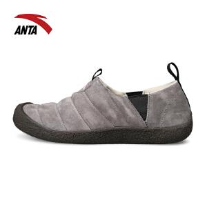 安踏男鞋休闲鞋 男鞋布料紧贴复古元素一脚蹬懒人鞋时尚户外鞋