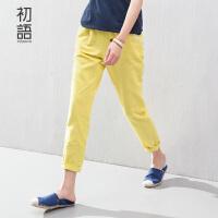 初语夏季新款 女装女裤休闲裤哈伦裤女显瘦九分裤小脚裤8522222907