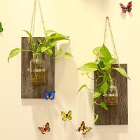 御目 挂件 壁挂水培花瓶田园家居客厅墙上墙壁花艺挂饰装饰品编织