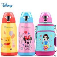 迪士尼儿童保温杯婴童不锈钢带吸管宝宝水壶创意可爱小学生水杯子