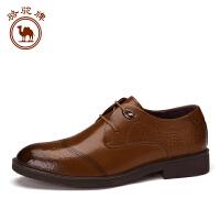 骆驼牌商务休闲鞋男士皮鞋男 系带英伦日常时尚舒适