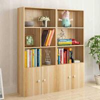 御目 书架 简约现代创意落地书柜自由组合书架学生简易置物架多格儿童玩具柜子 创意家具